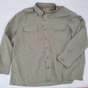 Duluth Trading Sage Green NoFlyZone Fishing shirt